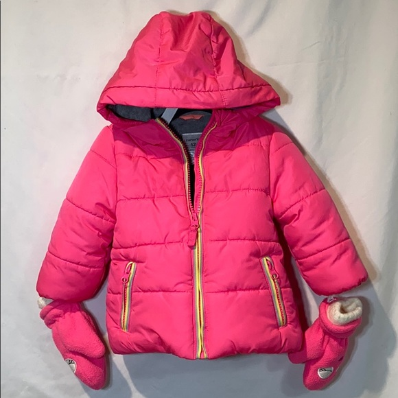 Carter's Other - Carter's Puffer Jacket with matching mittens 12M